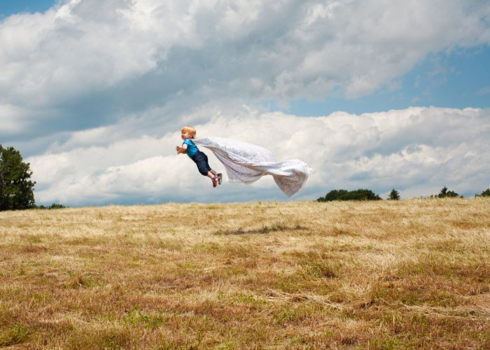 Flying superhero / Rachel Hulin child kid baby photography photo idea ideas