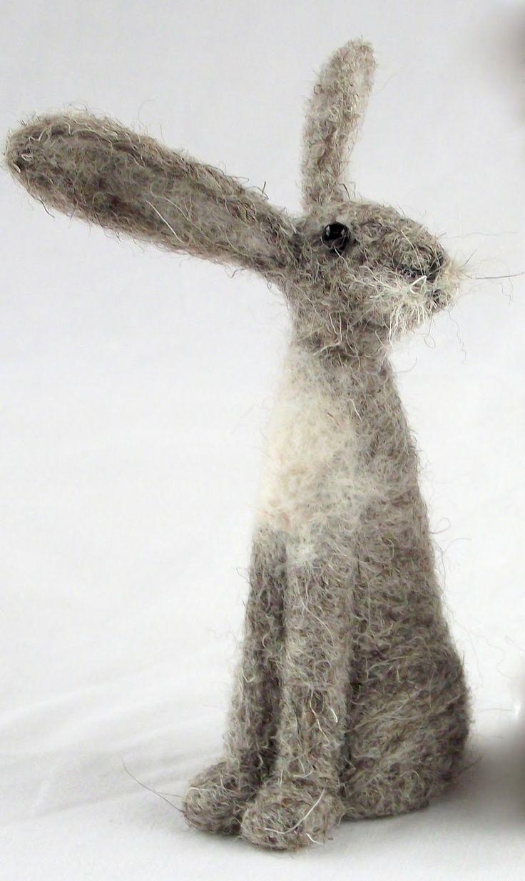 Hare needle-felting workshop - Jenny Barnett