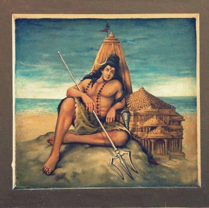 Shiva Art | ... TEMPLE), AROLI, KANNUR, KERALA: Lord Shiva at Somnath, a beautiful art