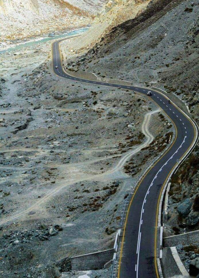 Karakoram Highway  Hunza Gilgit Baltistan Pakistan