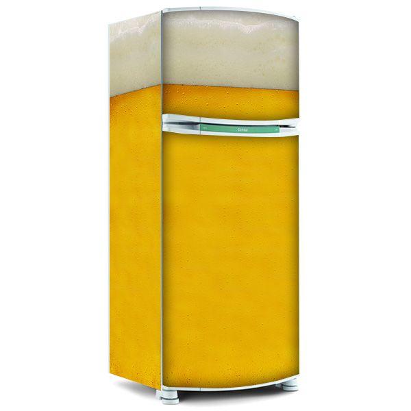 Adesivo para envelopamento de geladeira - Espuma de Cerveja
