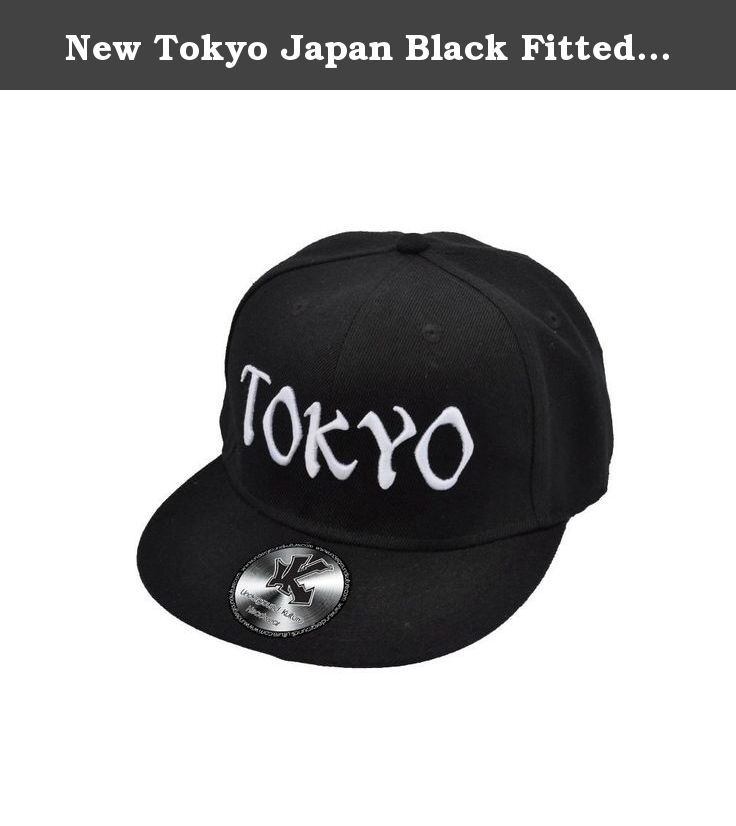 """New Tokyo Japan Black Fitted Flat Peak Baseball Cap 7 1/4"""". Very unique limited edition (only 160 ever made) Tokyo Flat-peak baseball cap."""