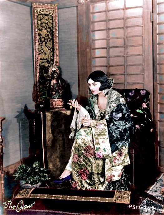 """Pola Negri in a colorized still from """"The Cheat"""" (1924)"""