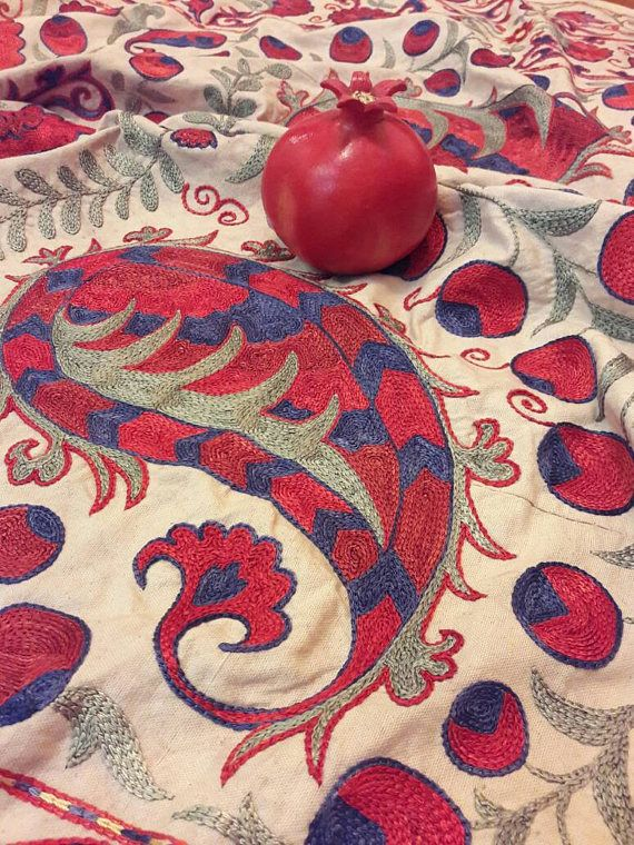 Suzani handmade from BukharaUzbekistan.Tablecloth Wall