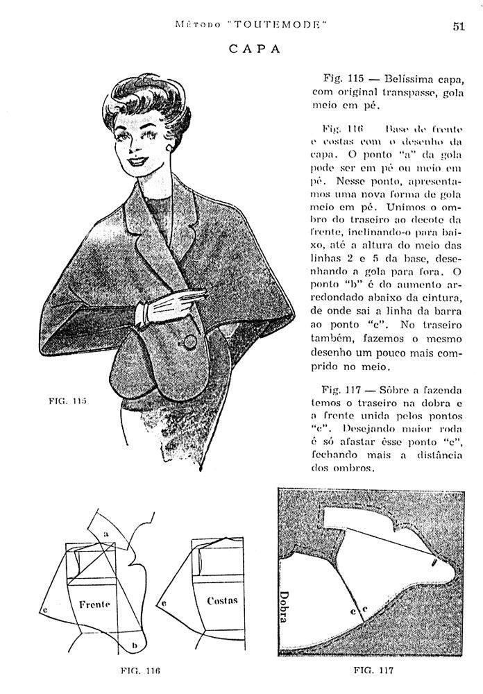 Vintage Shawl with Collar - FREE Sewing Draft Pattern