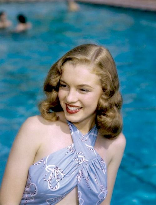 Norma Jean by Richard Miller, 1946. This is Marilyn's natural hair colour which is dark blonde not a brunette!
