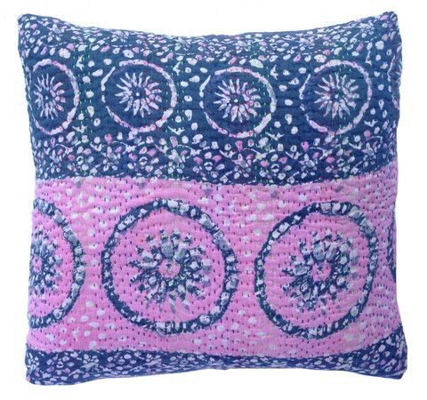 Basha Tie Dye Kantha Cushion