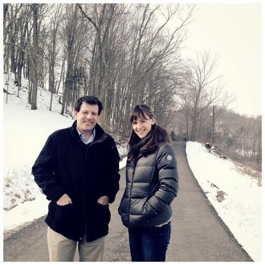 User Actions     Follow   Half the Sky MvmtVerified account @Heather Flores Thrilled to have Jennifer Garner join us in West Virginia as we shoot our new series! Here she is with @Nicholas Kristof. pic.twitter.com/hGI9UFlOTg