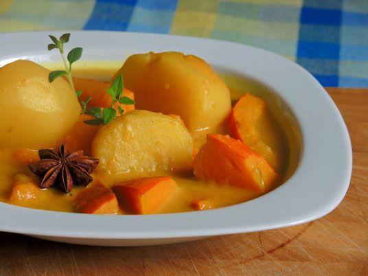 Erdäpfel Kürbis Curry