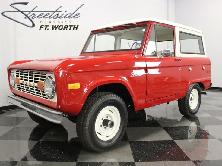 1972 Ford Bronco - this is our goal. To get the 1972 Bronco we just purchased  back to its original color, T = Candy Apple Red