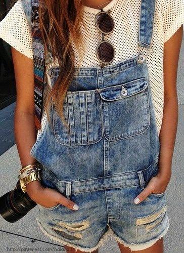 Denim Overalls // #streetstyle #missesdressy   http://www.missesdressy.com/blog/fashion-staple-denim-overalls.html