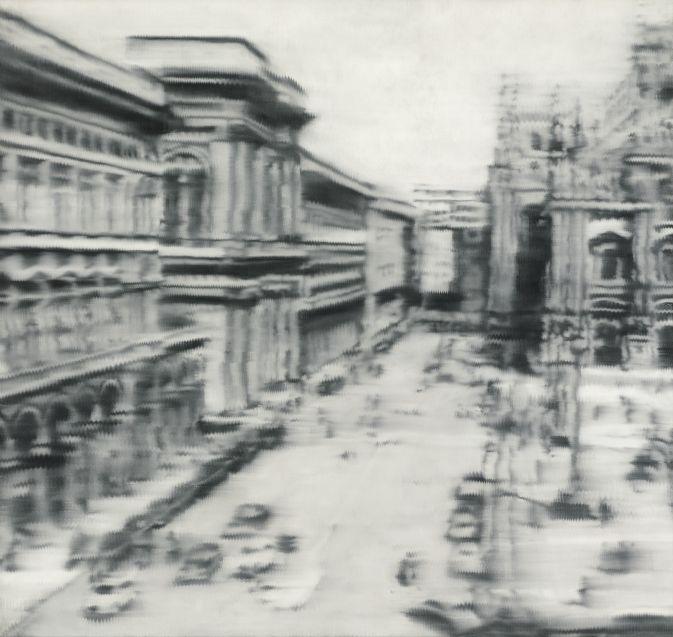 """Obraz """"Domplatz"""" Gerhard Richter #fedkolor #obraznapłótnie #obrazzezdjęcia #wydrukzdjęcia #zdjęcianapłótnie #reprodukcje #ozdoby #dekoracje #diy #wnętrza #pomysły #inspiracje #sztuka #art"""