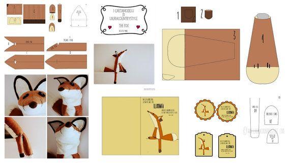 Patrón de costura PDF zorro de peluche Animal por lauracountrystyle