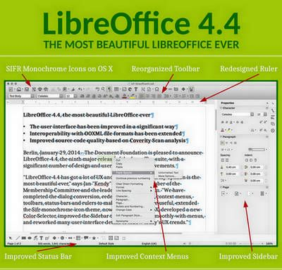 LibreOffice 4.4 - Novità e installazione in Windows, GNU/Linux e Ubuntu