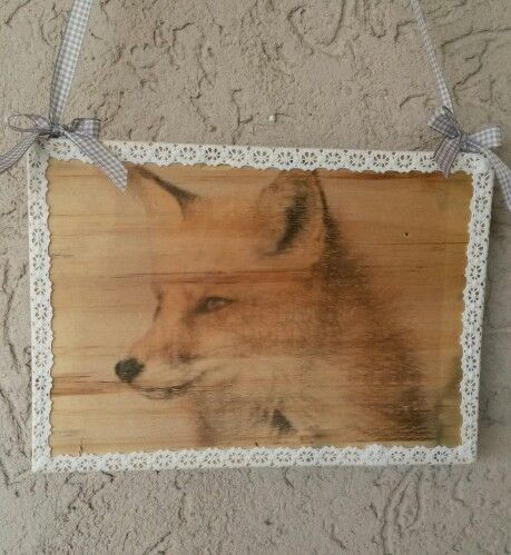 Parchment paper transfer on wood