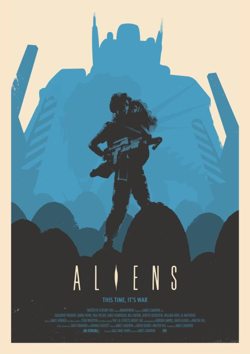 Aliens. I laugh every time I watch the next alien movie. She's too poor as she always gets into the situation brave woman tho