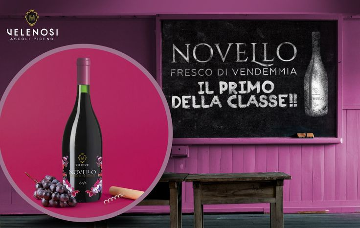 """Un po' come per ogni genitore, orgoglioso dei traguardi raggiunti dai propri figli, anche per noi produttori ogni bottiglia di vino è come un figlio. Ogni anno gli ultimi giorni della Vendemmia sono vissuti con gioia e speranza. In questo mix di emozioni le nostre aspettative fiondano tutte sul Novello, il primo vino della vendemmia.  Lo consideriamo un po' come il """"primo della classe"""" in quanto siamo sicuri che diventi il trascinatore dell'annata 2016. #Novello2016  #etichette #vino"""