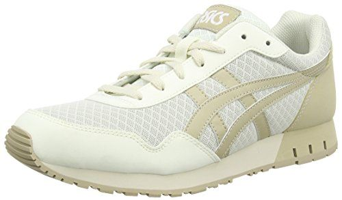 Asics Curreo, Damen Sneakers, Weiß (off White/sand 0205), 39.5 - http://uhr.haus/asics/asics-curreo-damen-sneakers-weiss-off-white-sand-5