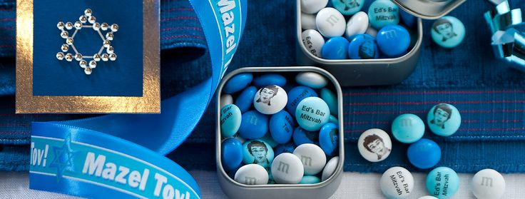 Idea Gallery: Personalized Bar Mitzvah and Bat Mitzvah Favor Ideas -MyMMs.com