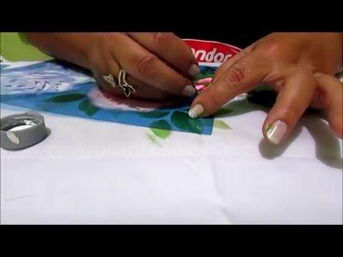 Stencil OPA - 20/05/16 - Mayumi Takushi - Tecido Rosas - YouTube                                                                                                                                                                                 Mais