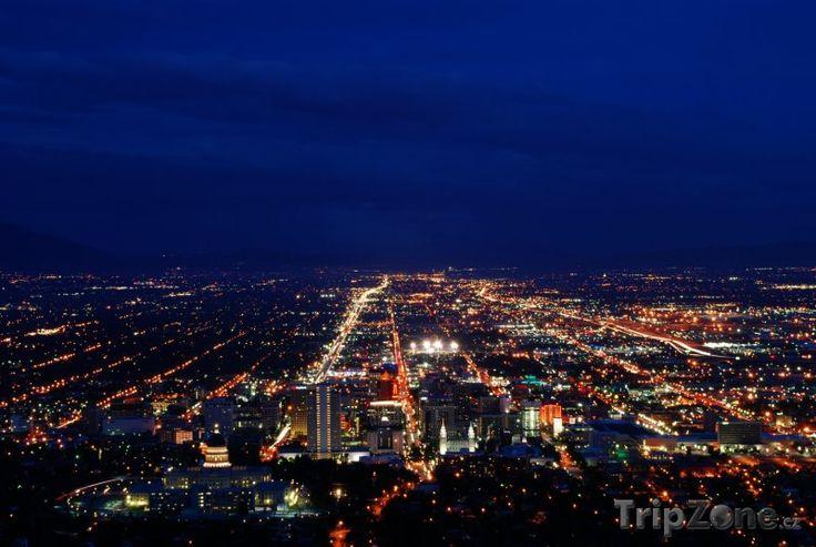 Fotka, Foto Noční Salt Lake City (Salt Lake City, USA)