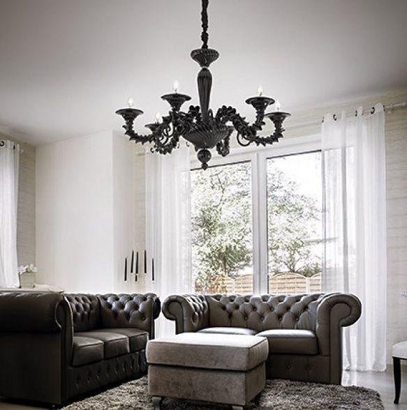 Κρεμαστός #μοντερνος #πολυελαιος της εταιρίας Ideal Lux από γυαλί με ιδιαίτερο σχεδιασμό που κερδίζει τις εντυπώσεις. Επιλέξτε τον για το σαλόνι ή την τραπεζαρία σας σε μαύρο ή λευκό χρώμα. Για  περισσότερη οικονομία στην κατανάλωση ενέργειας προτείνουμε να επιλέξετε λαμπτήρες LED: http://kourtakis-lighting.gr/36-lamptires-led-E14