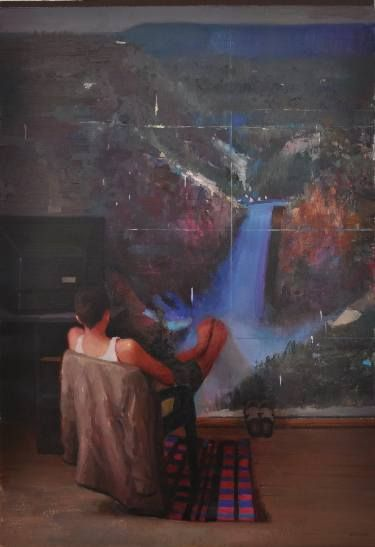 "Saatchi Art Artist ROBERT FEKETE; Painting, ""The touch 2"" #art"