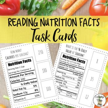 reading food labels and calculating target Activity 4a food labels student worksheet remember that an important recommendation, example: especially for americans, is to keep the percent.