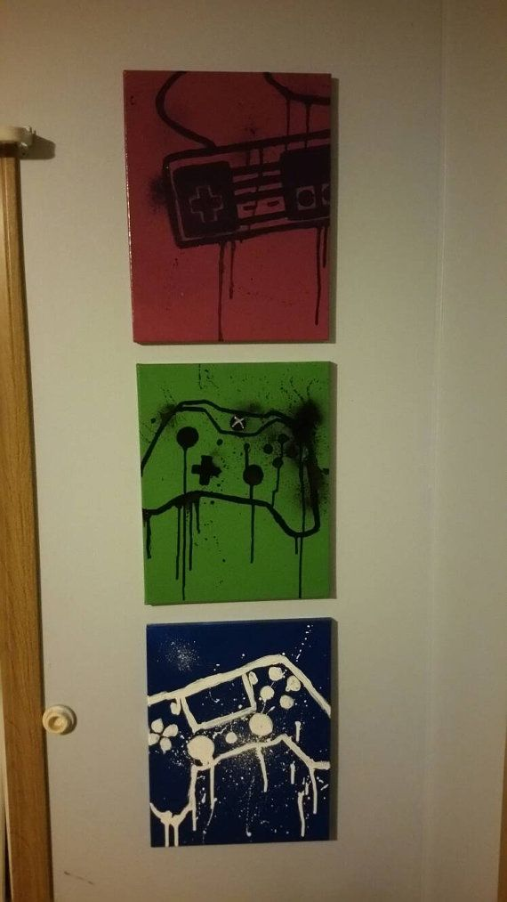 CUSTOM GAMER CANVAS 11x14  PS4 PS3 Playstation Xbox 1 Nintendo Sega Wall decor Ready to Hang Gamer Art