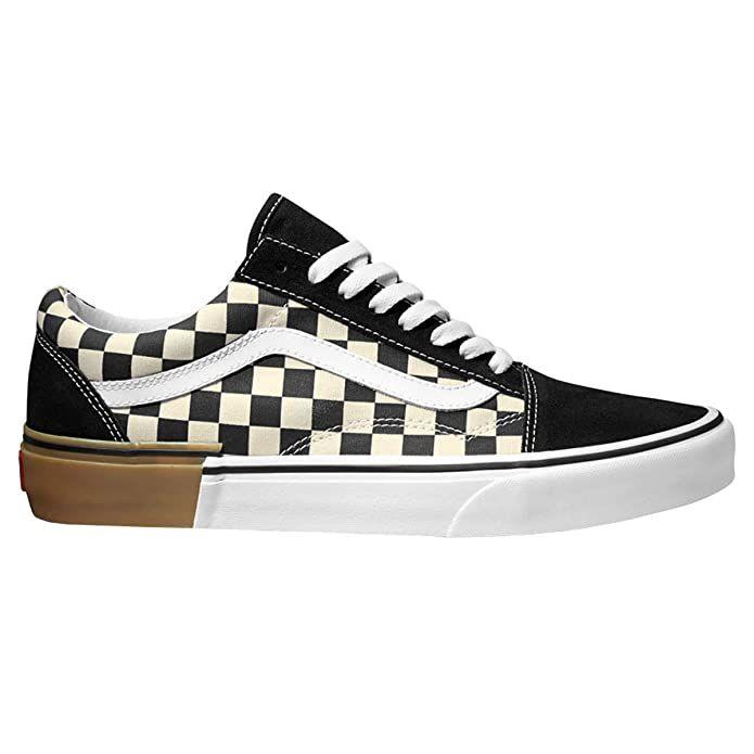 Vans Old Skool Sneaker Damen Herren Kinder Unisex Schwarz Weiss Kariert In 2020 Sneaker Damen Vans Old Skool Sneaker