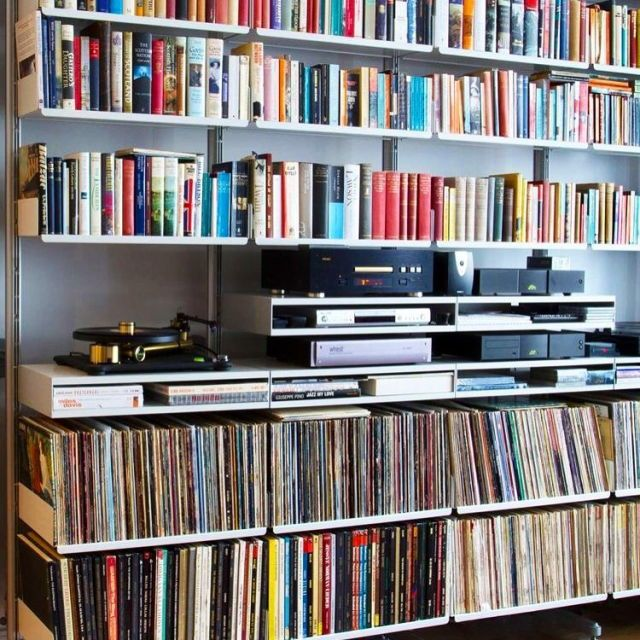Music, books and books about music.