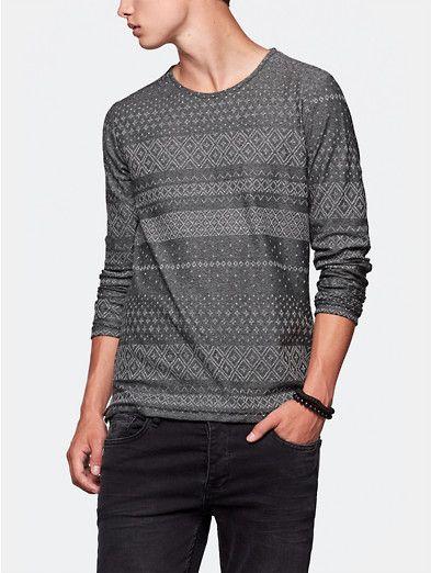 print t-shirt grijsmelee