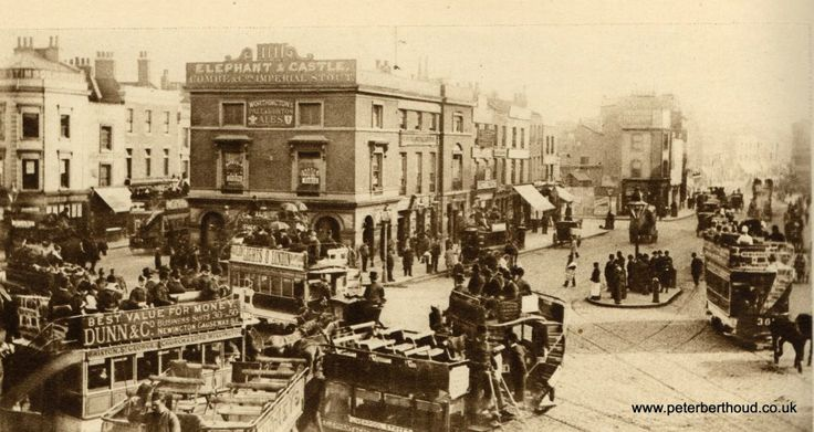 Mid 1880s. — at Elephant and Castle at the Elephant and Castle.