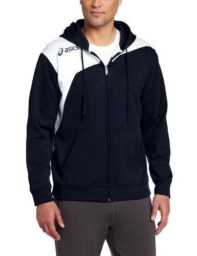 Asics Men&39s Logo Fleece Jackets Small Navy/White | Fleece