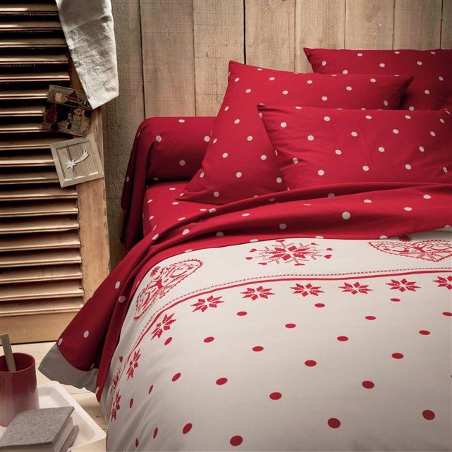 housse de couette edelweiss bedrooms christmas and red. Black Bedroom Furniture Sets. Home Design Ideas