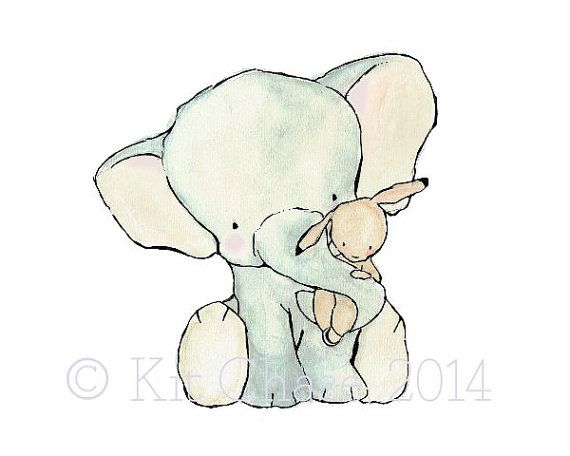 Hey, I found this really awesome Etsy listing at https://www.etsy.com/listing/62805027/nursery-art-elephant-hug-archival-print