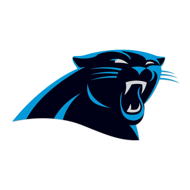 Carolina Panthers Decals Set of 2 Cornhole Board Decals 10 inch