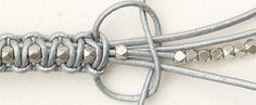 Tutoriel DIY: Faire un bracelet en macramé cuir et perles via DaWanda.com                                                                                                                                                     Plus