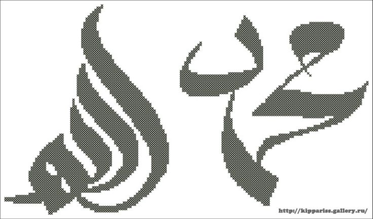 my pattern for cross stitch Muhamed and Allah
