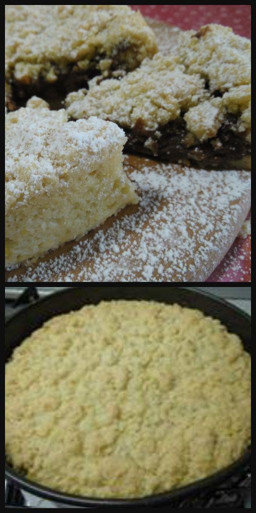 Torta sbrisolona ricotta e nutella, che golosità !! #TortaSbrisolona #ricotta #nutella #dolciitaliani #ricettegustose