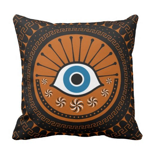 mysterious eye square pillow