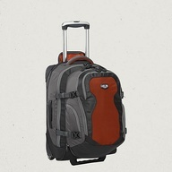 Eagle Creek Switchback Max 22 - a great wheeled backpack for traveling.  Carry-on sized, with a zip-off backpack complete with laptop sleeve.