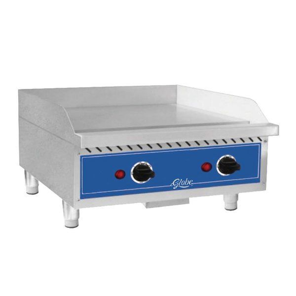 Globe Geg24 24 Electric Countertop Griddle In 2020 Food Equipment Countertops Cooking Equipment