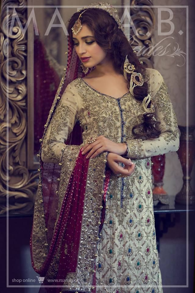 Red Bridal dress by Maria B 2016