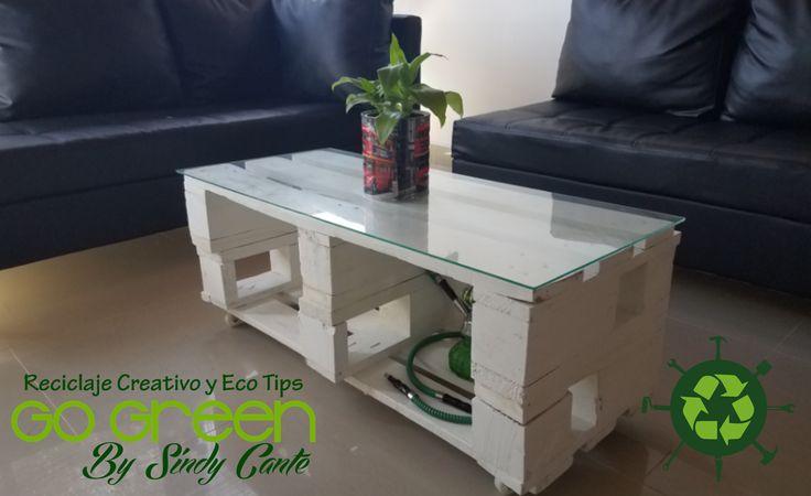 Hoy les comparto esta mesa de centro que hice con Pallets... Dale click en el siguiente enlace y encontrarás el vídeo tutorial: https://youtu.be/dz2aIMhAMZ0