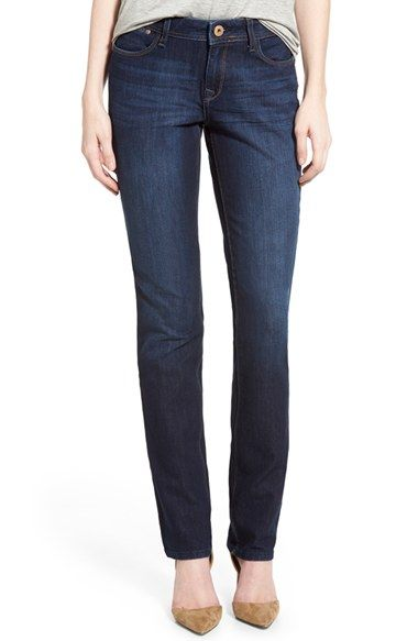 Stitch fix straight leg not skinny jean leggings!   DL1961 'Coco' Curvy Straight Jeans (Solo) available at #Nordstrom
