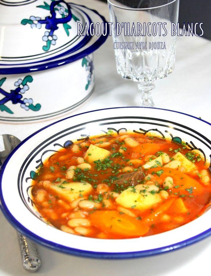 Cassoulet algerien d'haricots blanc en sauce