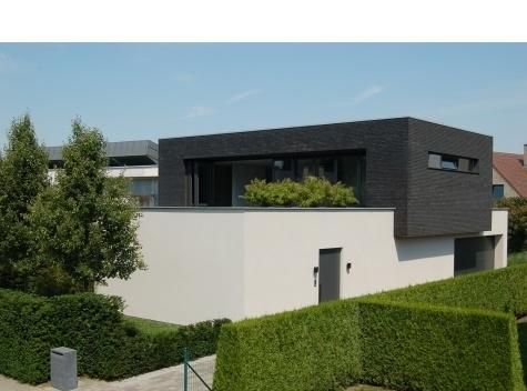 Zwarte gevelsteen witte crepie met veel groen gevel pinterest met and in - Modern stenen huis ...