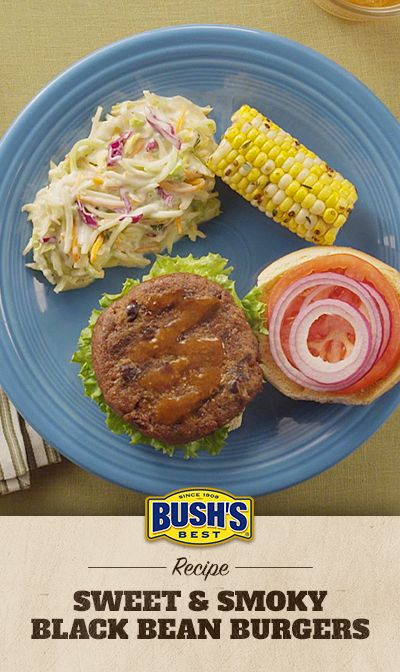 SWEET & SMOKY BLACK BEAN BURGERS This delicious burger gets its zing ...