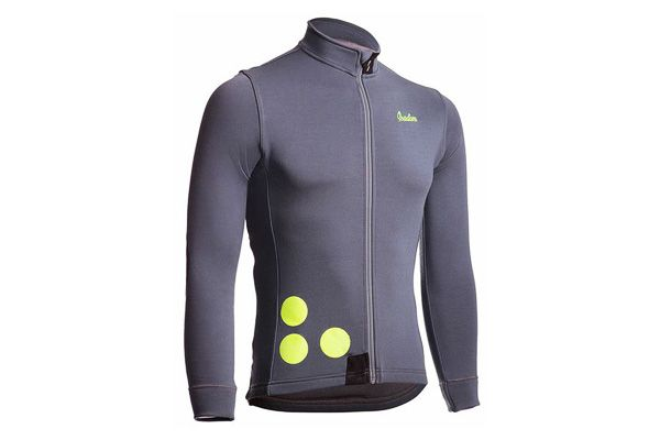 Isadore - Thermerino Jersey Castle Grey - Thick and incredibly versatile cycling jersey for winter riding #cyclingmemories